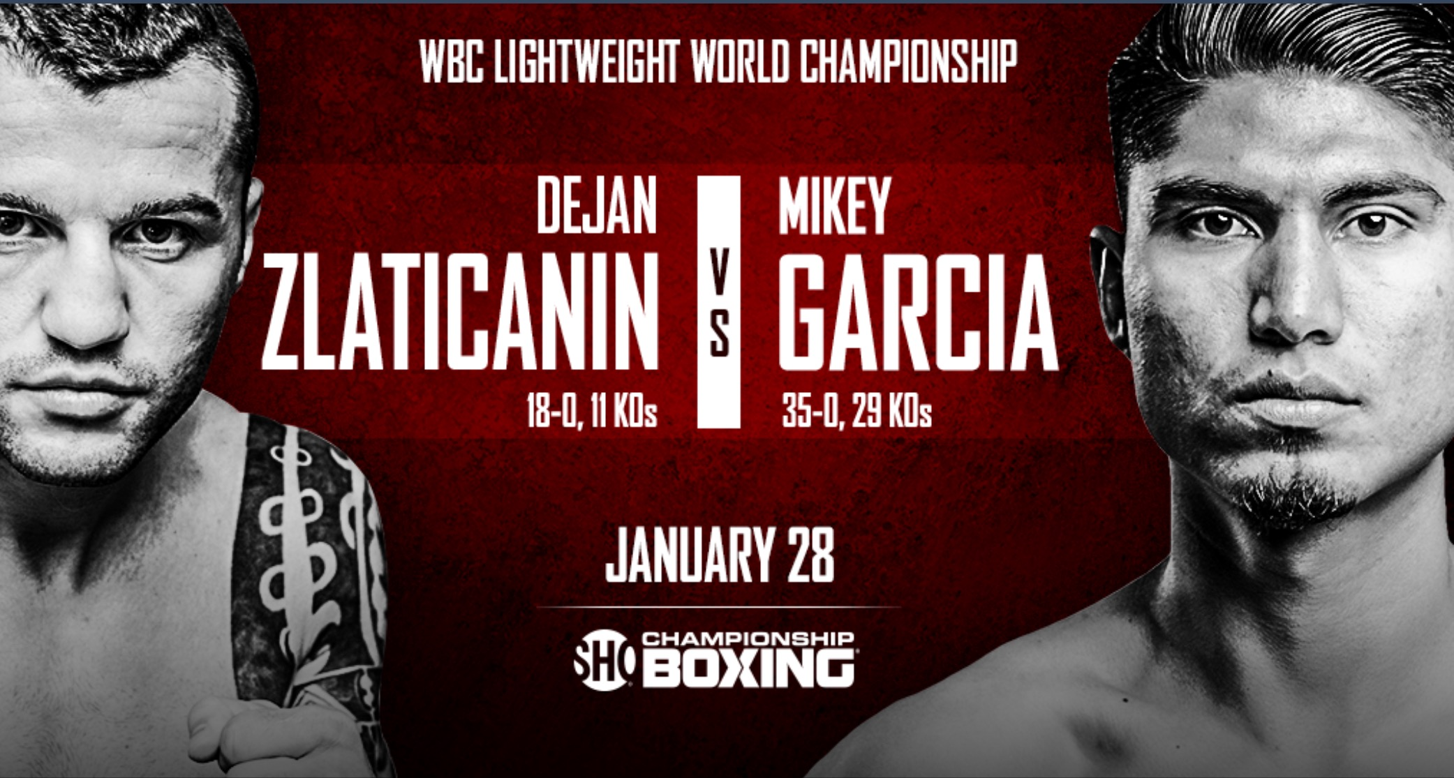 Dejan Zlaticanin vs. Mikey Garcia will take place on January 28th. Photo: Showtime Sports