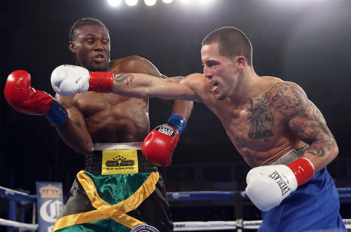 Jason Sosa battles Nicholas Walters to a draw in December 2015. Photo: Alex Menendez/Hogan Photos/Golden Boy Promotions