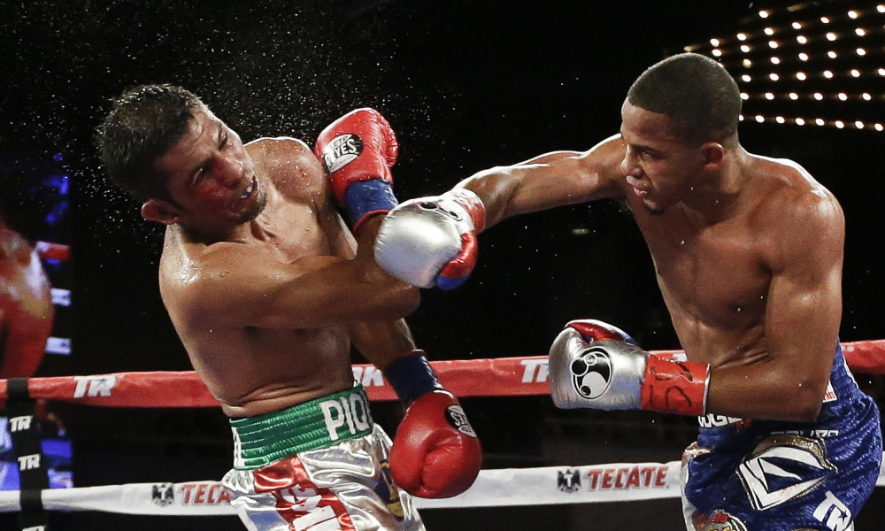 Felix Verdejo lands a right hand on Juan Jose Martinez in his last fight in June 2016. Photo: AP Photo/Frank Franklin II