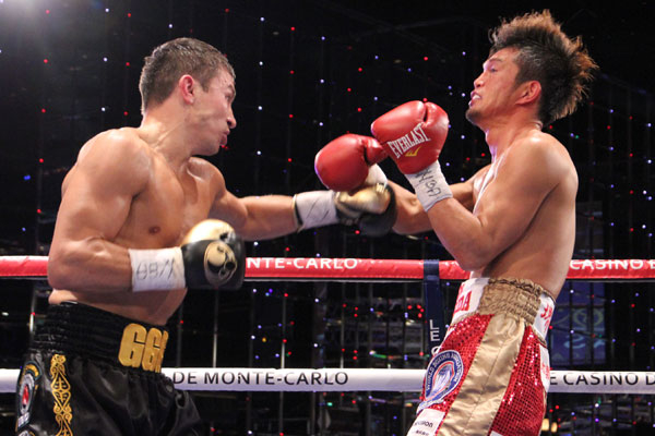 Gennady Golovkin scored a devastating third round knockout of Nobuhiro Ishida in March 2013. Photo: Sumio Yamada
