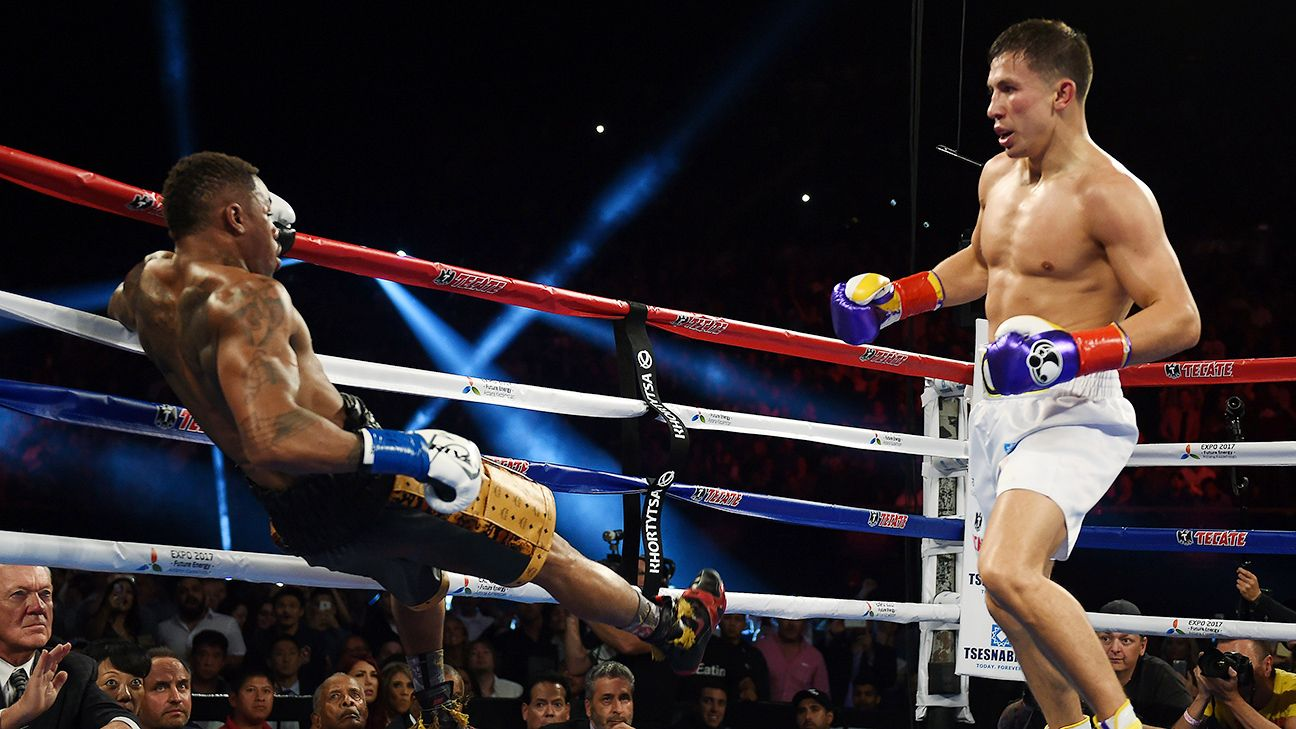 Gennady Golovkin stopped Willie Monroe Jr. in the sixth round of their May 2015 bout. Photo: Mark Ralston/AFP/Getty Images