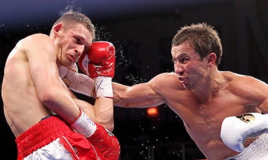 Gennady Golovkin stopped Grzegorz Proksa in the fifth round in his debut in the United States and HBO debut. Photo: Ed Mulholland