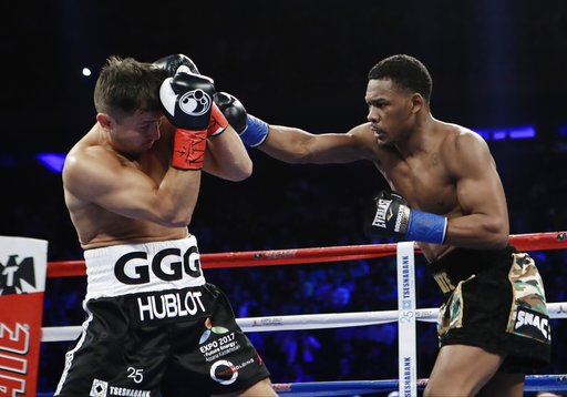 Daniel Jacobs lost a close unanimous decision to Gennady Golovkin Saturday night at Madison Square Garden. Photo: Frank Franklin II/Associated Press