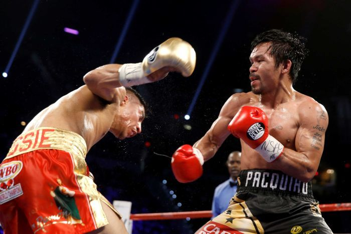 Manny Pacquiao won a unanimous decision last year over Jessie Vargas to regain the WBO welterweight championship. Photo: Steve Marcus/Reuters