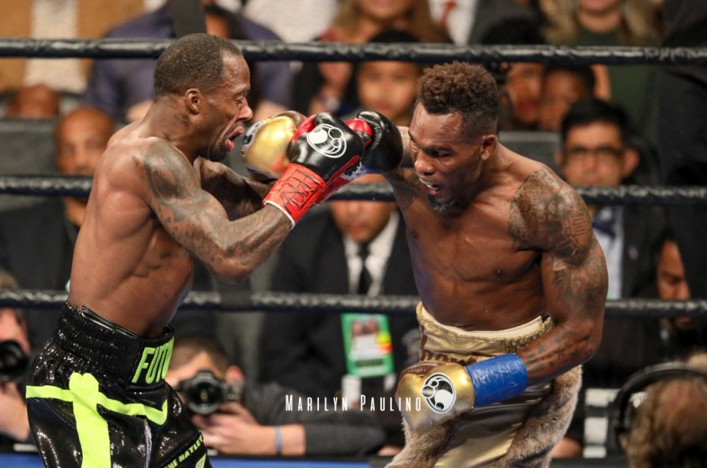 Jermell Charlo scores an impressive sixth round knockout over Charles Hatley in April. Photo: Marilyn Paulino/RBR Boxing