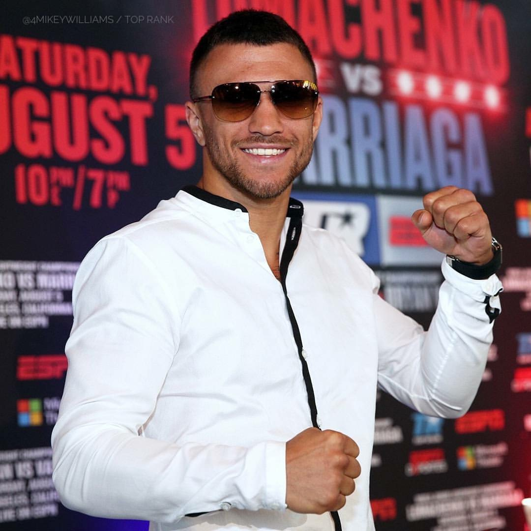 Vasyl Lomachenko at the press conference for his bout with Miguel Marriaga on August 5th. Photo: Mikey Williams/Top Rank