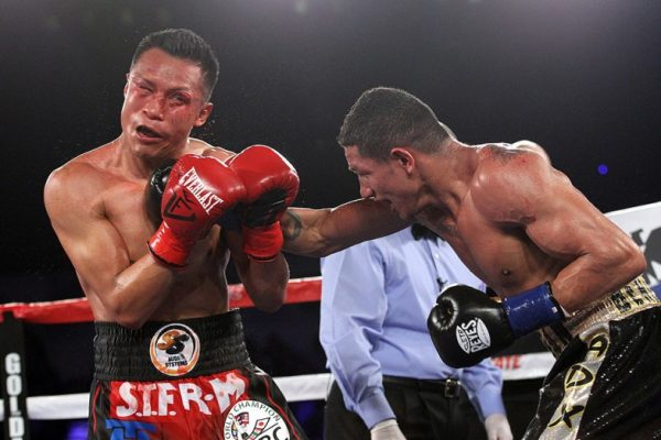 Miguel Marriaga won the WBC 130-pound title by stopping Francisco Vargas last January. Photo: Ed Mulholland/HBO Sports