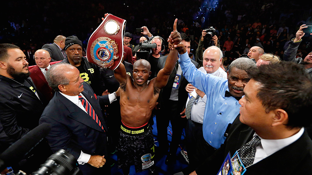 The biggest victory of Bradley's career came against Juan Manuel Marquez in October 2013. Photo: HBO Sports