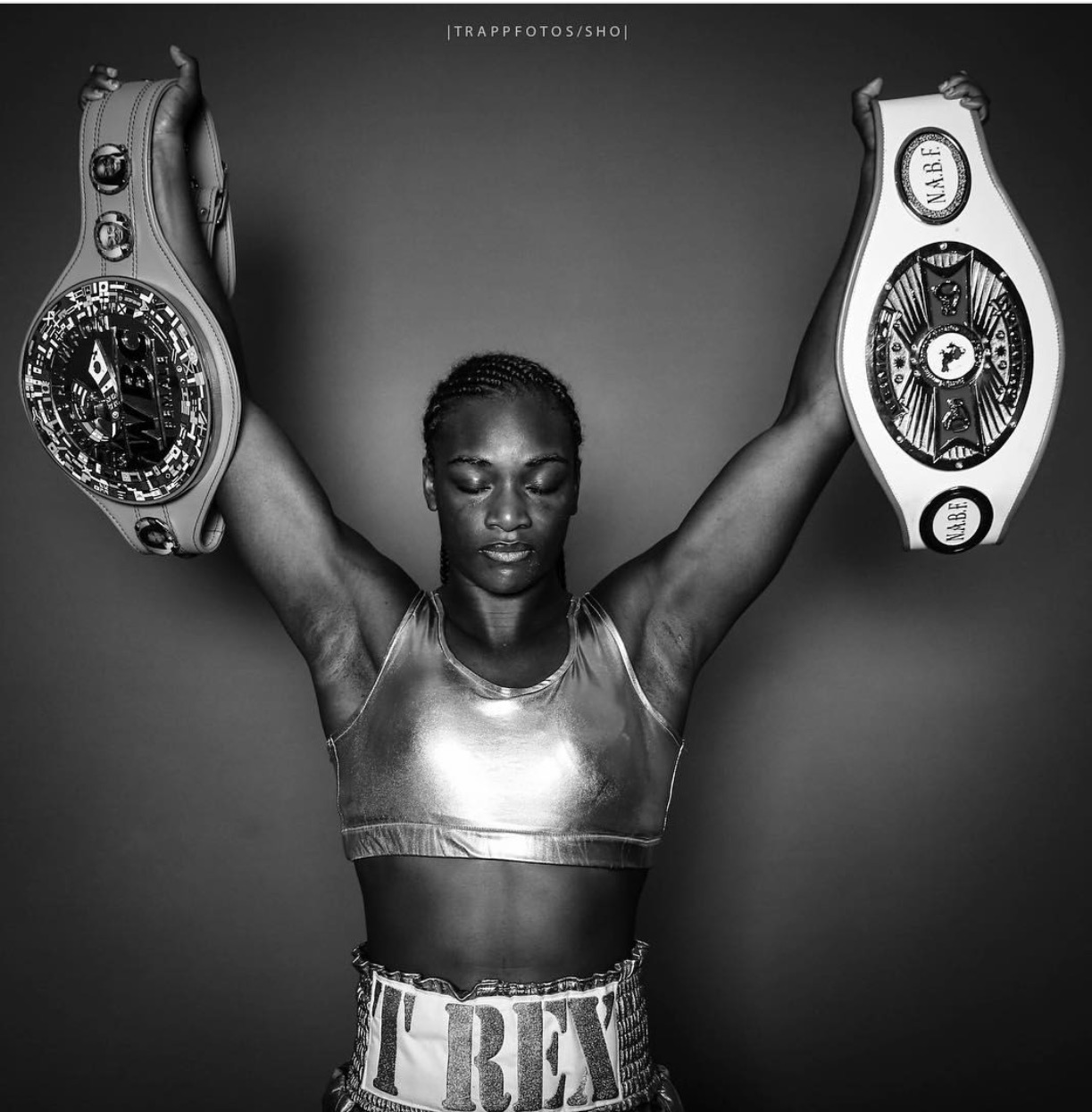 Claressa Shields hopes to capture WBC and IBF Super Middleweight titles tonight against Nikki Adler in just her fourth professional bout. Photo: Stephanie Trapp @trappfotos