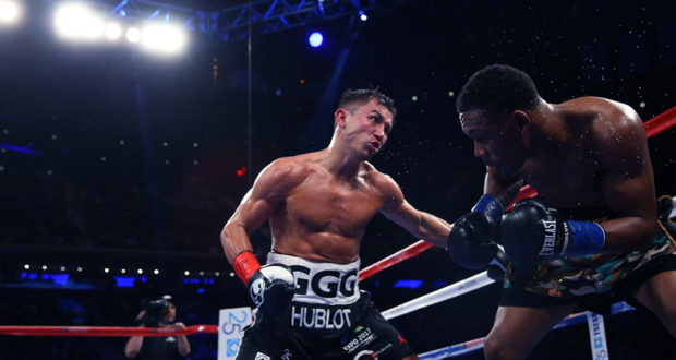 Gennady Golovkin won a close unanimous decision over Daniel Jacobs earlier this year. Photo: Ed Mulholland/HBO