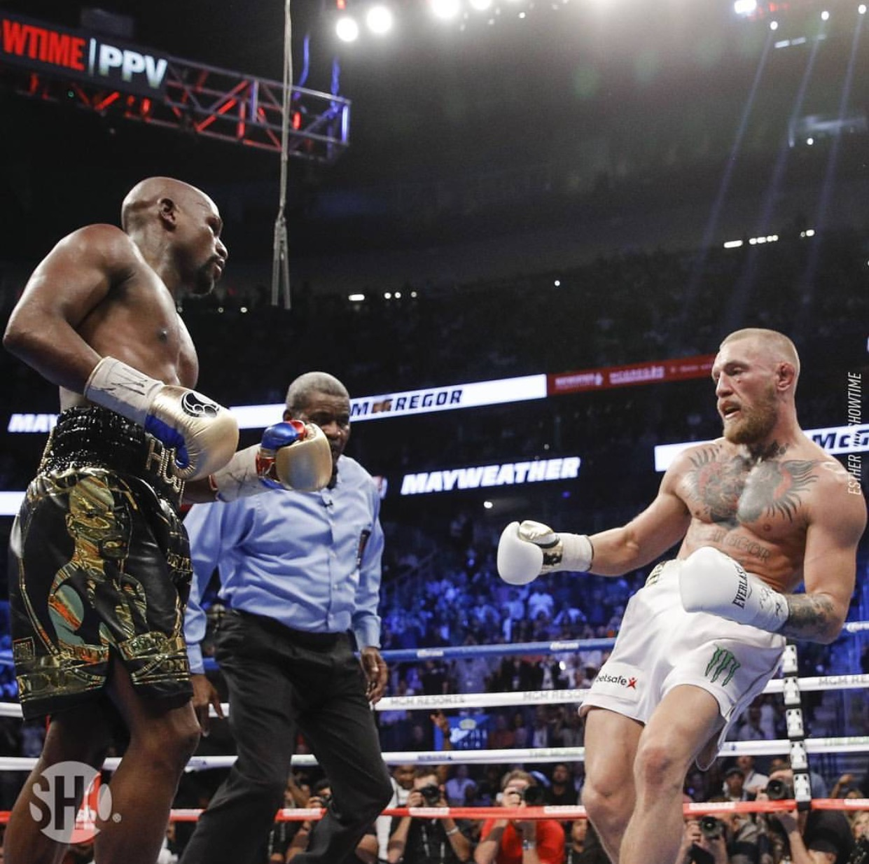 Floyd Mayweather stopped Conor McGregor in the 10th round in their huge Las Vegas fight on August 26th. Photo: Esther Lin/Showtime