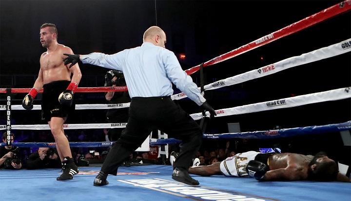 David Lemieux scored a brutal one-punch knockout over Curtis Stevens this past March. Photo: Tom Hogan/Hogan Photos/Golden Boy Promotions