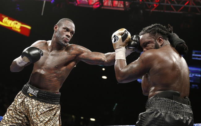 Deontay Wilder won a wide unanimous decision over Bermane Stiverne in January 2015 to win the WBC heavyweight title. Photo: AP Photo/John Locher