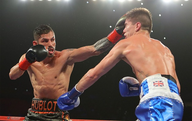 Jorge Linares won a razor-thin split decision over Luke Campbell in September. Photo: Tom Hogan/Hogan Photos/Golden Boy Promotions