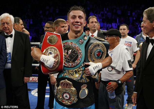 Gennady 'GGG' Golovkin has made 19 successful title defenses of his middleweight titles winning 17 by way of knockout. Photo: Reuters.