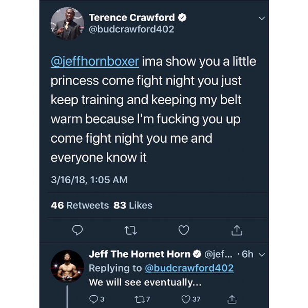 Terence Crawford Jeff Horn Boxing