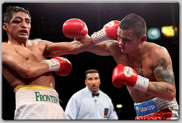 Erik Morales fought in a war with Marcos Maidana with his right eye closed in 2011. Photo: Tom Hogan/Hogan Photos