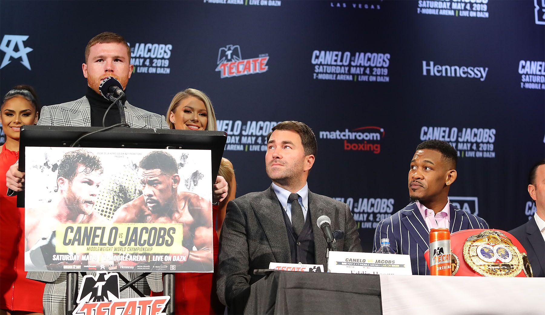 Canelo Alvarez speaks on his upcoming fight with Daniel Jacobs. Photo: Tom Hogan / Golden Boy Promotions