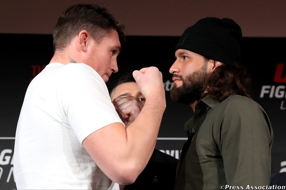 Darren Till and Jorge Masvidal will battle it out in the main event at UFC Fight Night London. Photo Credit : Press Association
