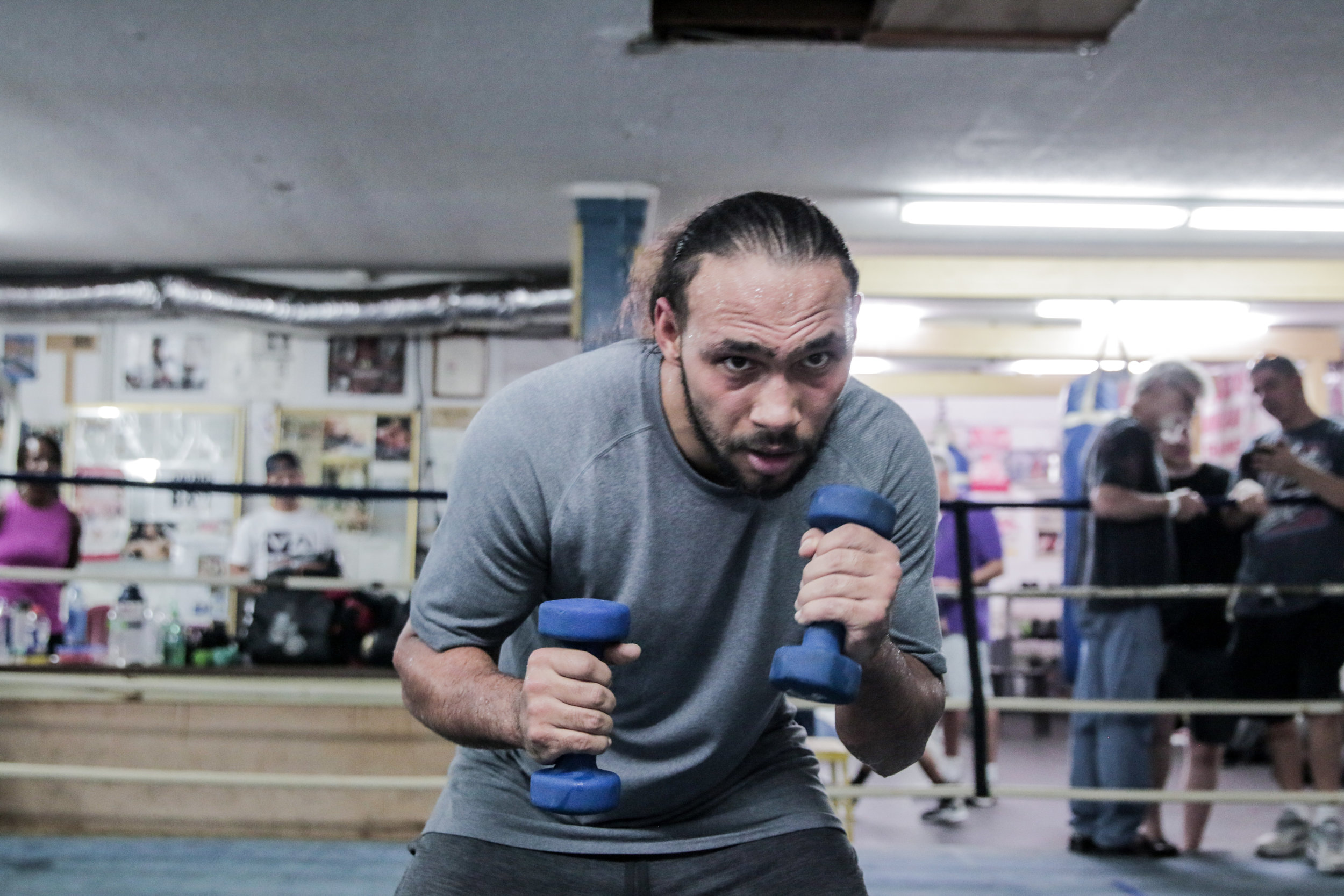 Keith Thurman in training camp. Photo: Andy Samuelson/Premier Boxing Champions