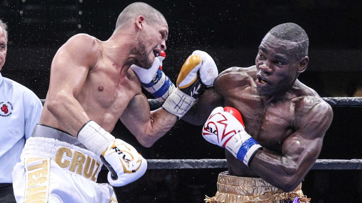 Edner Cherry stopped Luis Cruz in nine rounds in July 2015. Photo: Lucas Noonan/Premier Boxing Champions