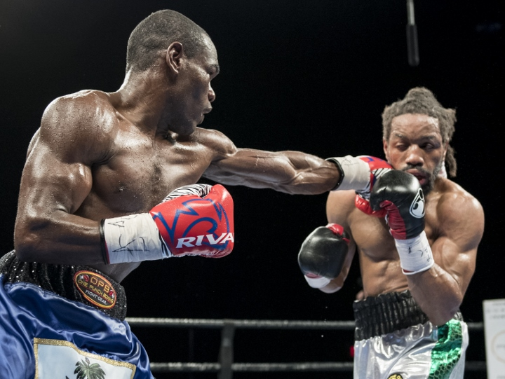 Edner Cherry in one of the last bouts of his career against Omar Douglas. Photo: Matthew Heasley/Premier Boxing Champions