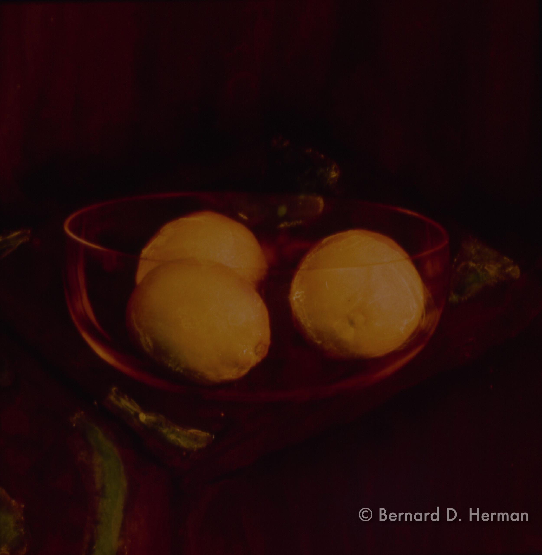 A Bowl with Three Lemons