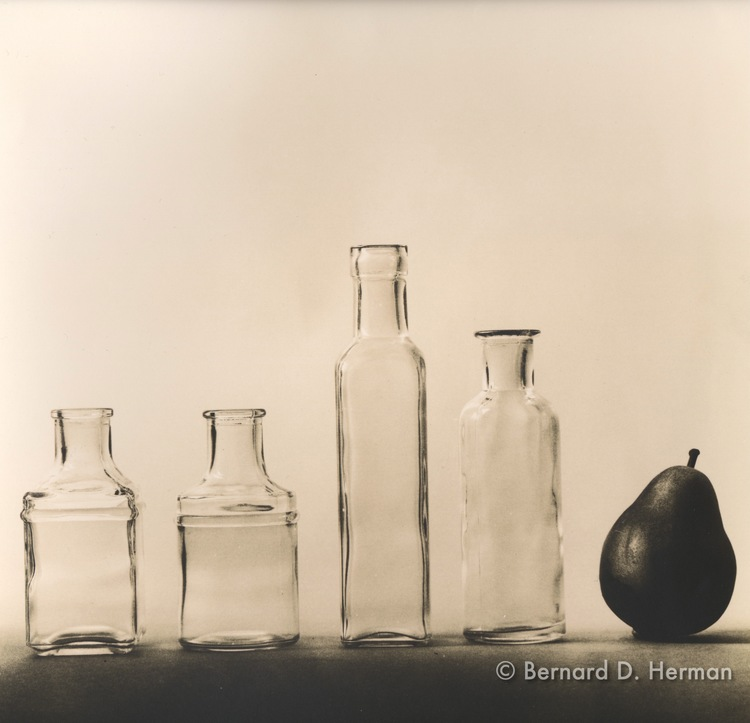 Bottles and Pear