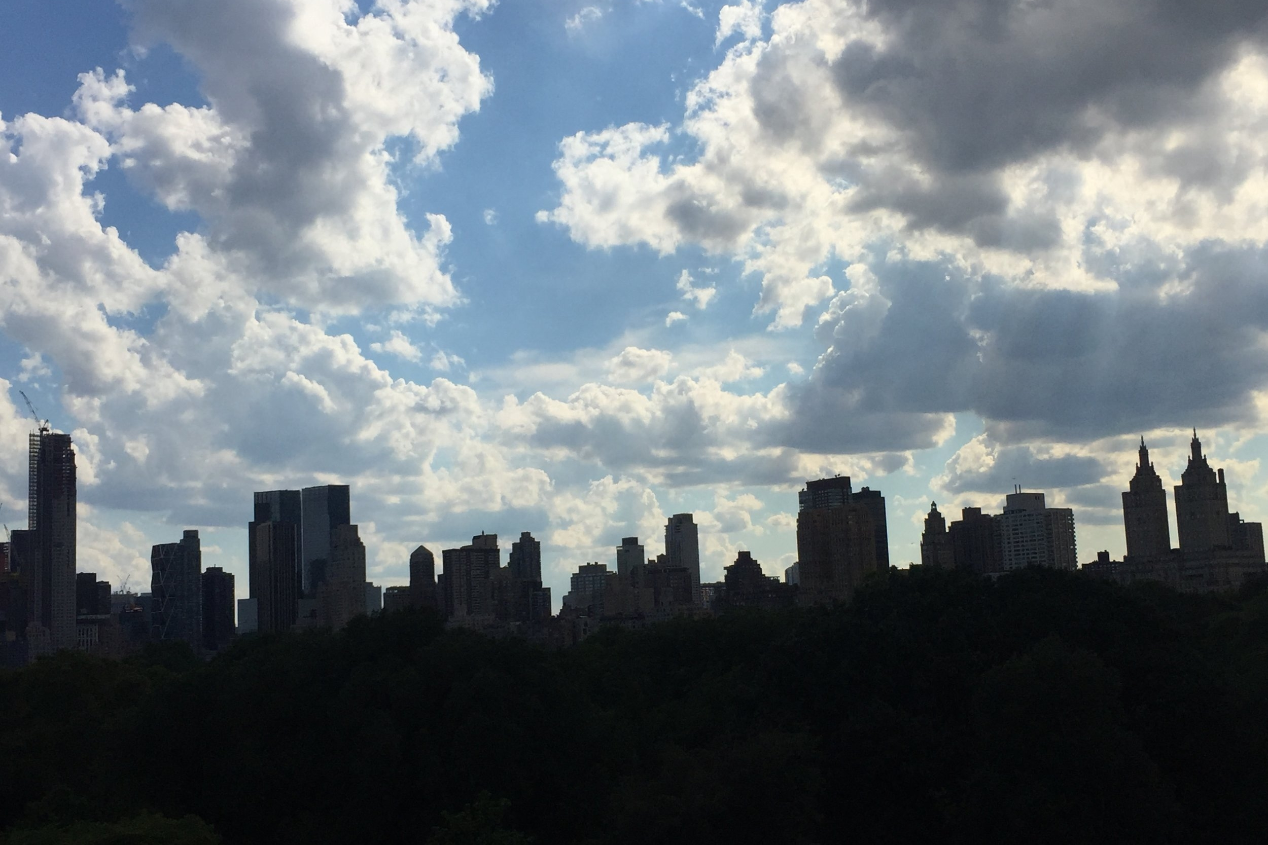 NYC skyline from the rooftop of the Metropolitan Museum of Art