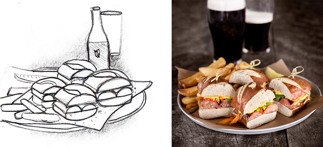 A new art direction for World of Beer's food and beverage photography was a top priority. Photos ©  Meagan Klementowski.