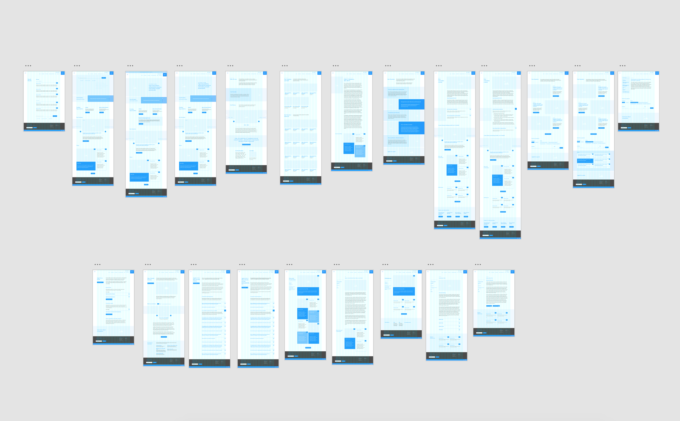 A full set of wireframes were completed prior to the design phase.