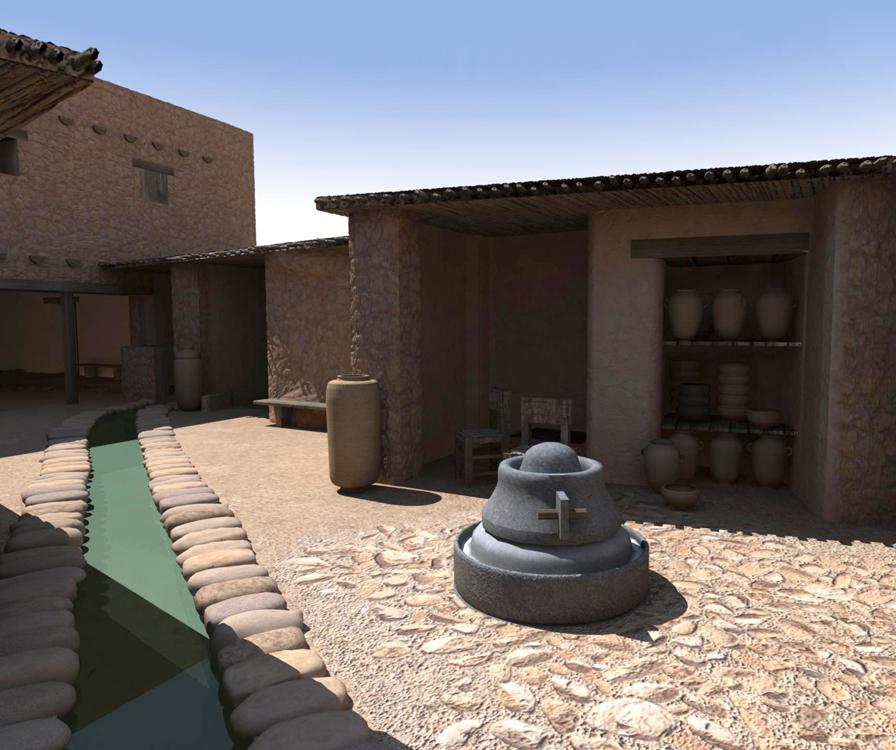 Virtual Qumran Render #2  (Textures only) Autodesk Maya