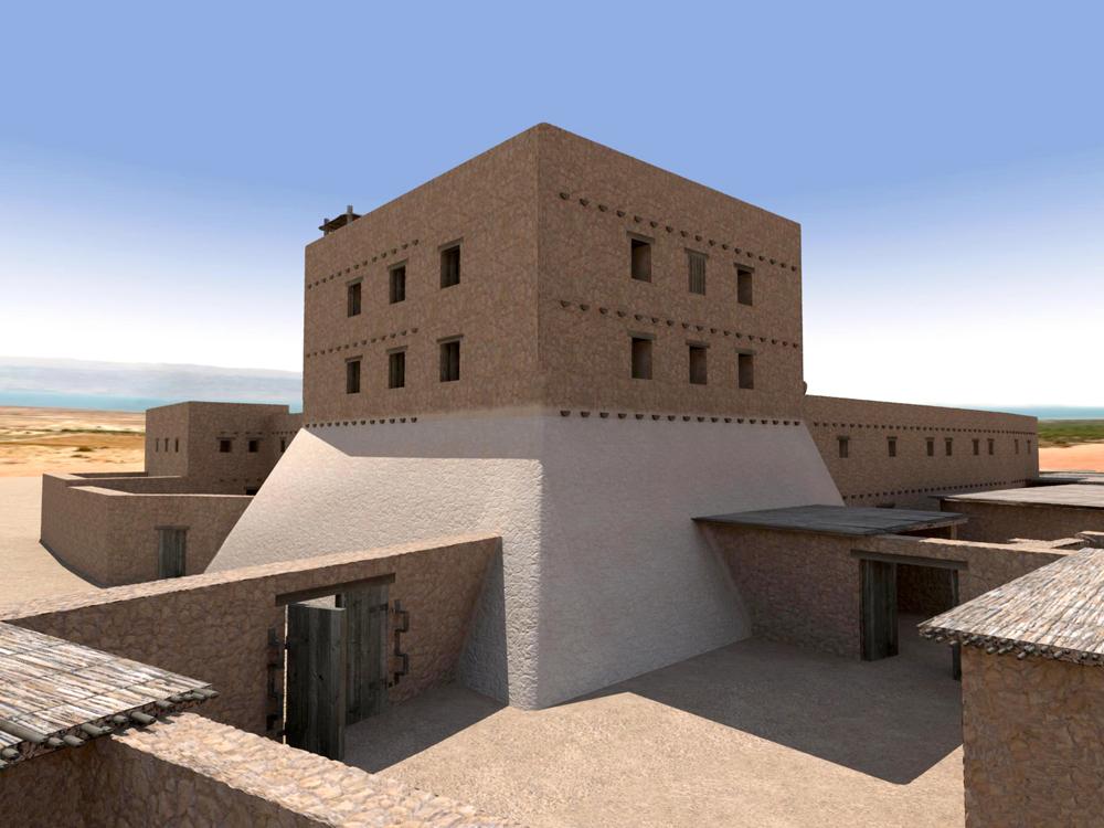 Virtual Qumran Render #1  (Textures only) Autodesk Maya