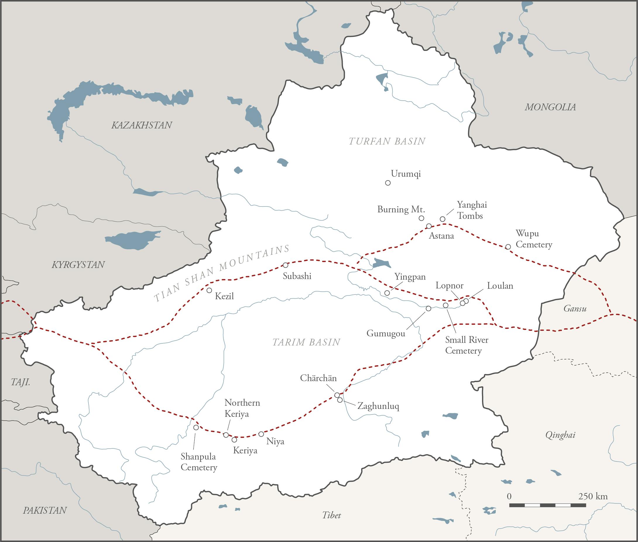 Map of Xinjiang Province  Adobe Illustrator