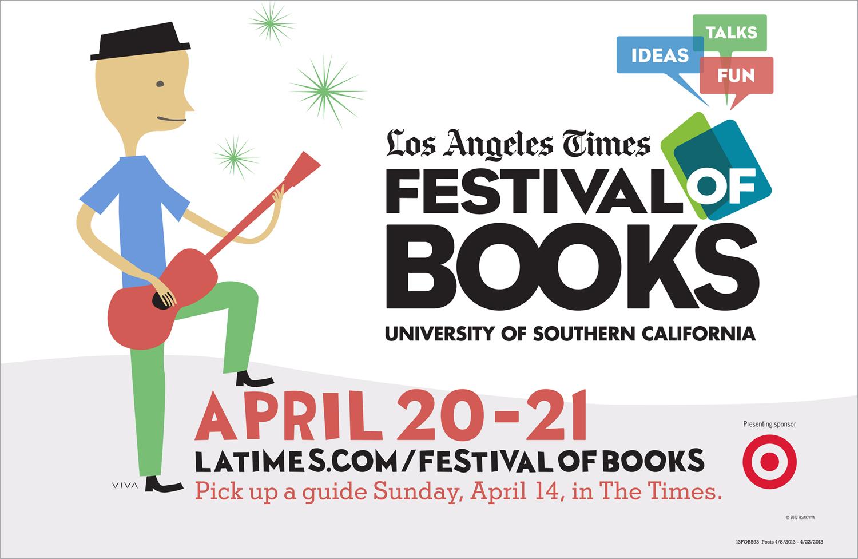 Rack Card  LA Times Festival of Books (Artwork by Frank Viva) Adobe Illustrator