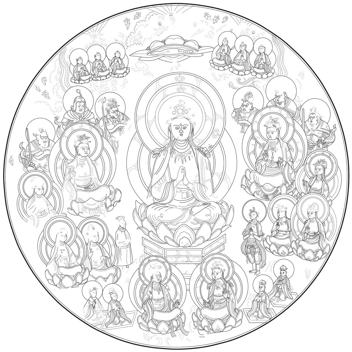 Chinese Bronze Mirror #1  Adobe Illustrator