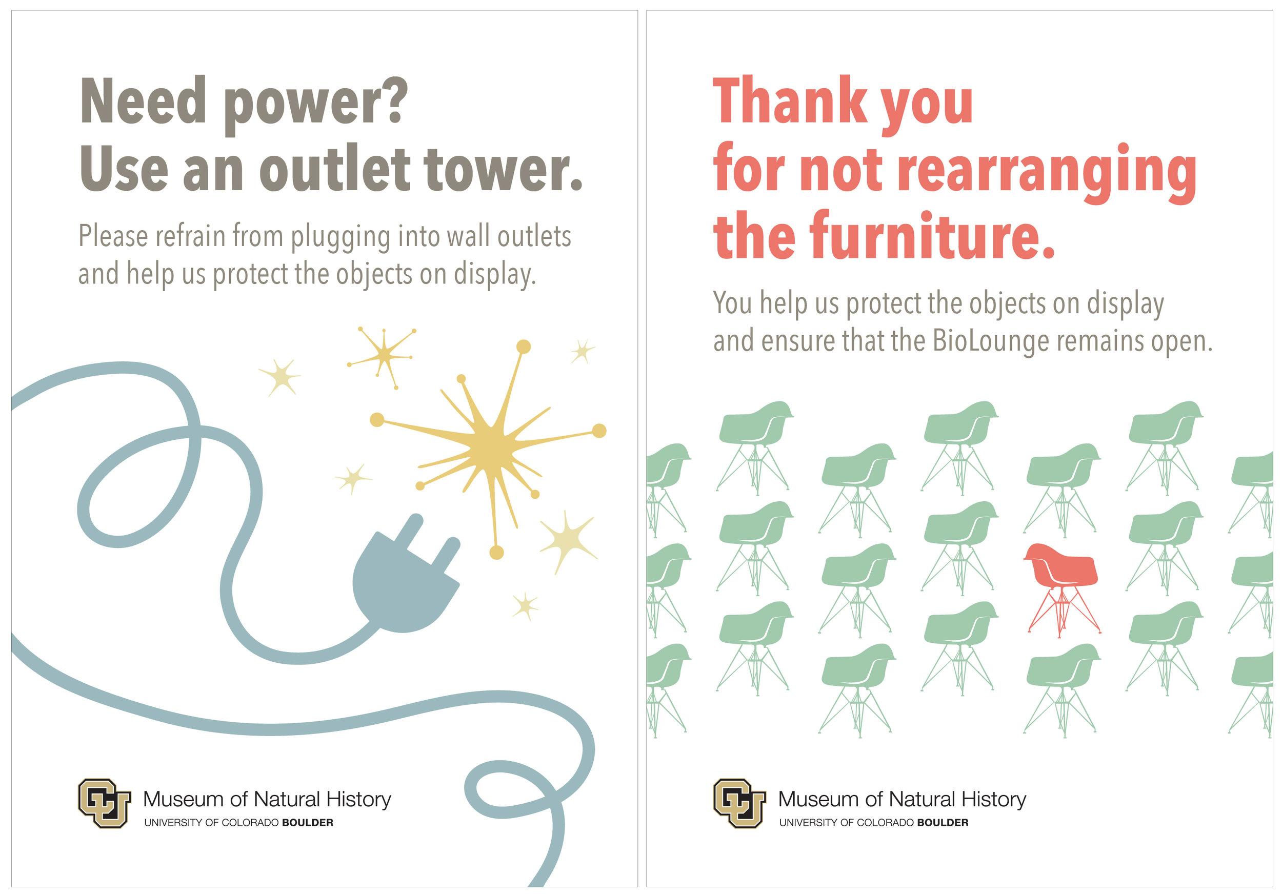 Informational Signs  University of Colorado Natural History Museum Adobe Illustrator