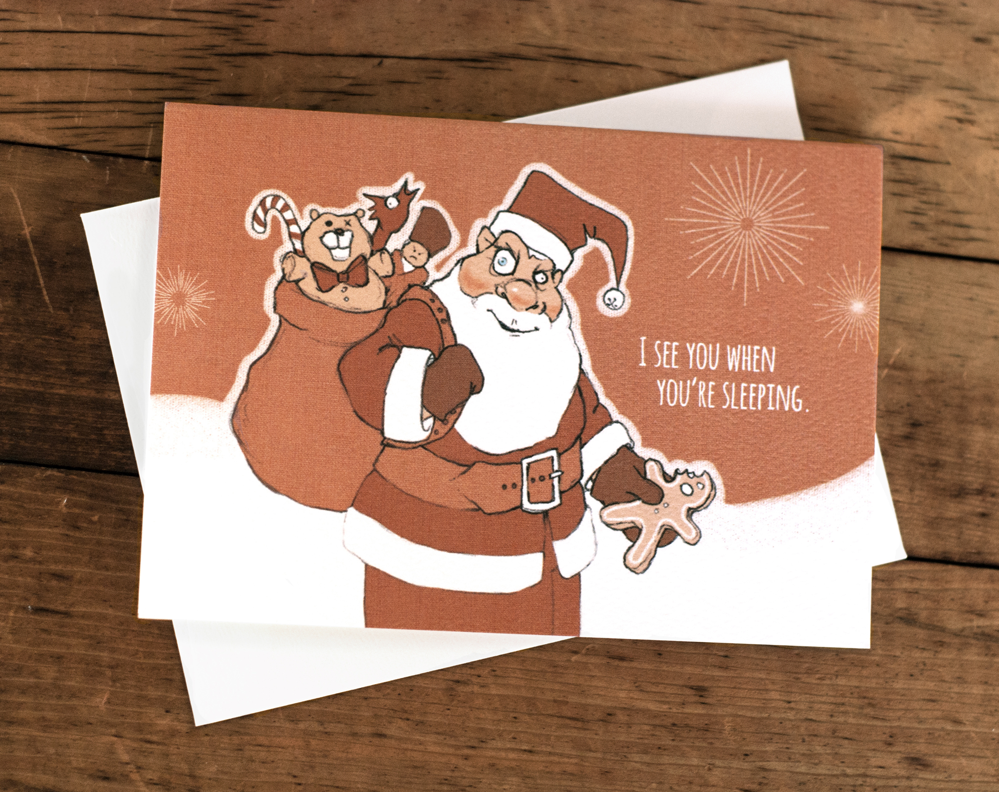 "Santa greeting card (3.x5x5"")"