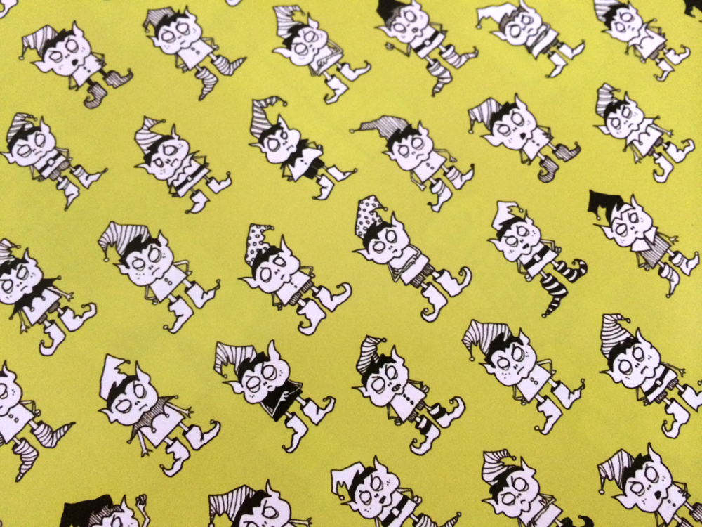 """Elf wrapping paper (24x36"""")"""