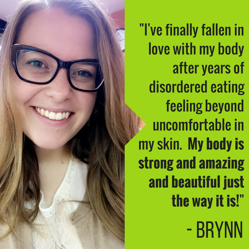 I've finally fallen in love with my body after years of disordered eating feeling beyond uncomfortable in my skin. My body is strong and amazing and beautiful just the way it is! @  brynn_ash