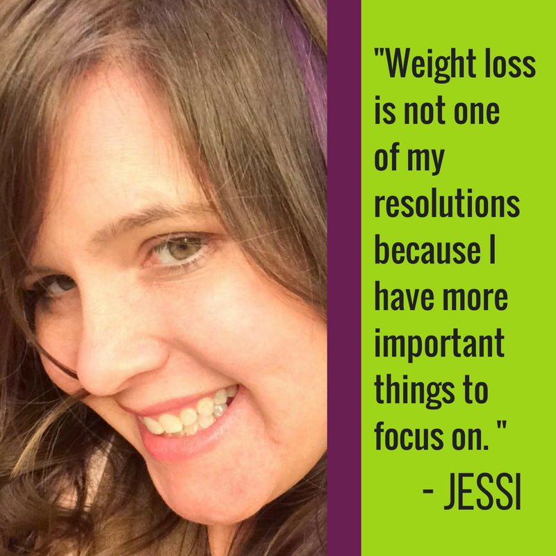 Weight loss is not one of my resolutions because I have more important things to focus on. I'd rather spend my time working to be strong, silly, and joyful. I can't be those things if I'm focused on the numbers on a scale or on a tag in my clothes. @gluestickgeek