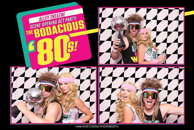 We had such a blast at @alleytheatre's opening act party last night! Who doesn't love a good 80's party?!        #HamAndCheesePhotobooth #HoustonPhotobooth #Houston #Photobooth #PhotoboothFun #GifBooth #Party #HamItUpAndSayCheese  #party #alleytheatre #props #80s