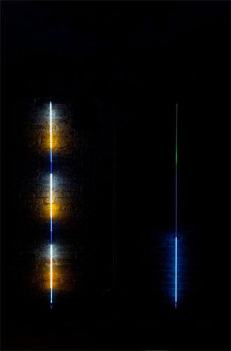 """Light Sentence  1970  84"""" x 6mm  Argon"""