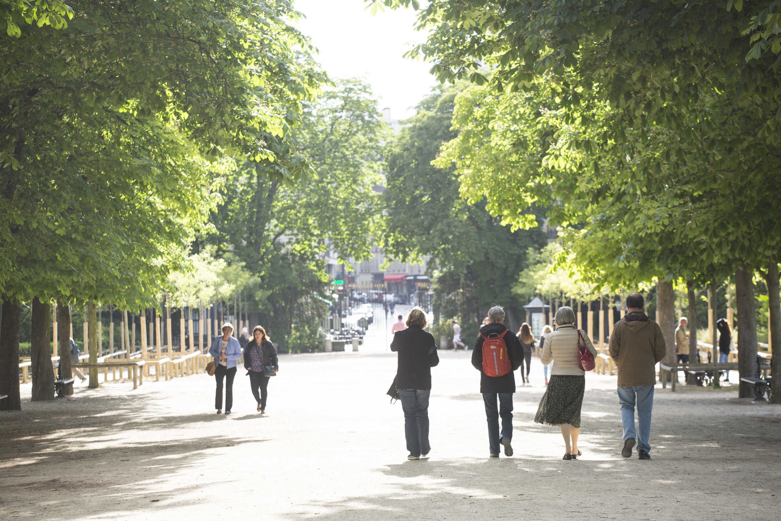 leaving Luxembourg gardens