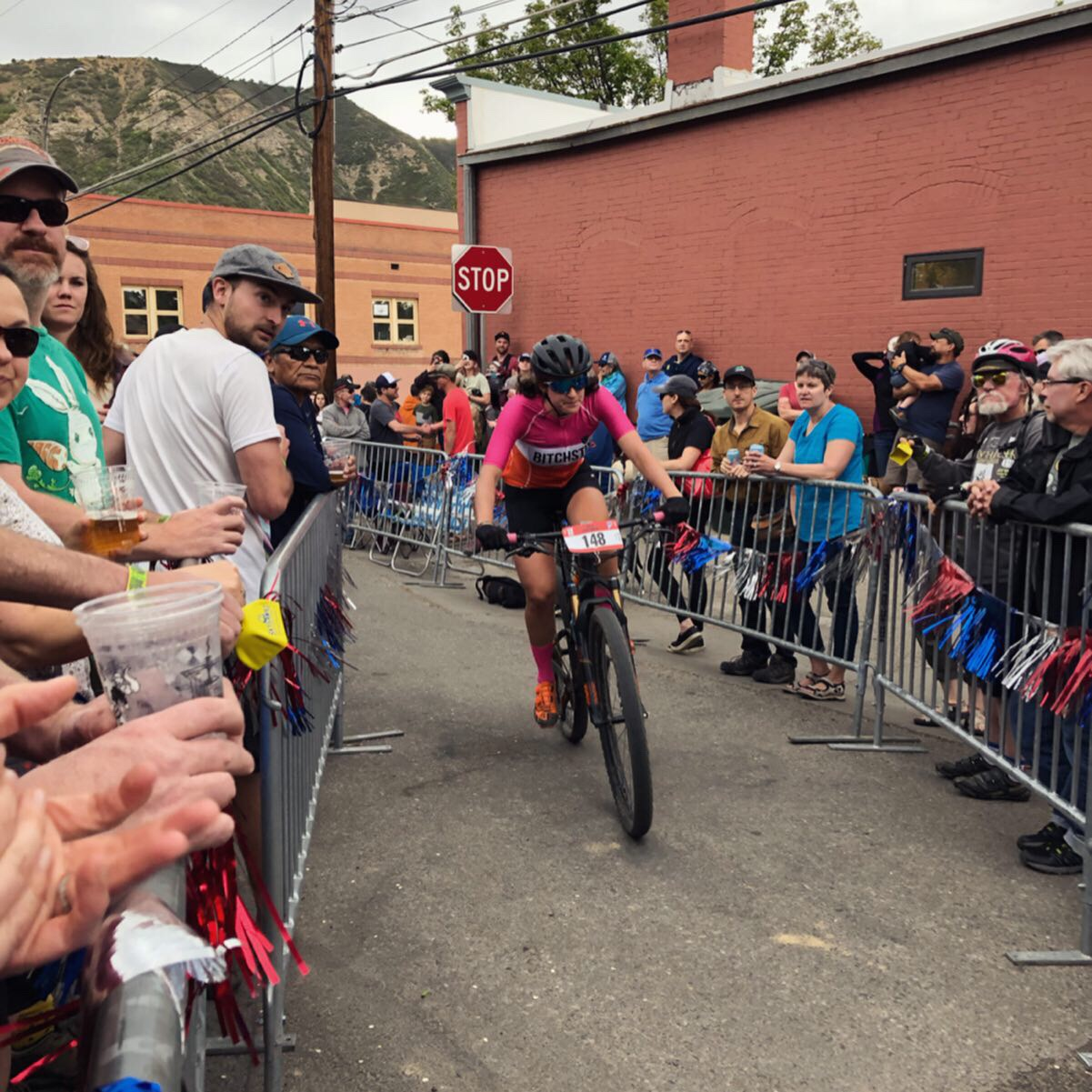 The Iron Horse Mountain Bike race goes through downtown and into a bar, taking beer hand-ups is just about mandatory.