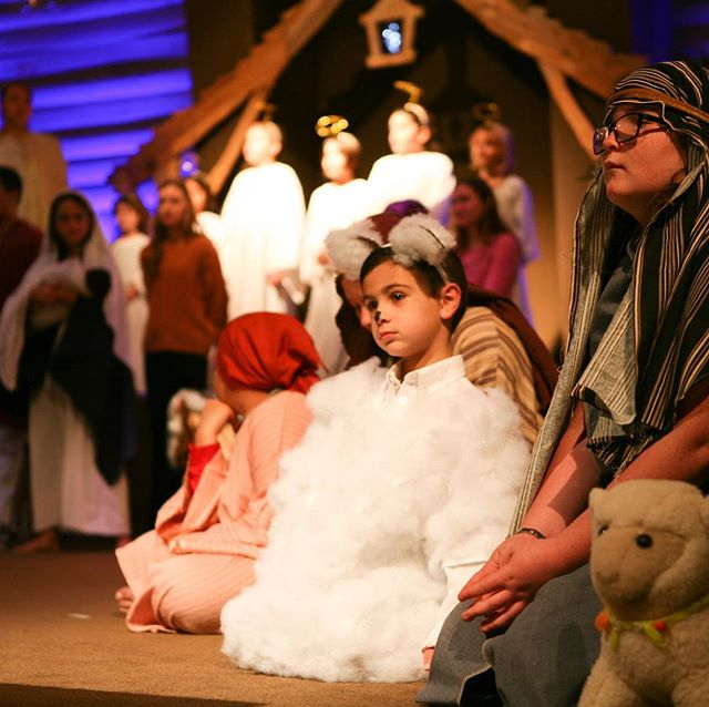 Come To The Manger was performed this morning——See the Full Video on our Facebook Page! . . . #angels #shepherds #magi #cutelittlesheep #stars #mary #joseph #innkeeper #cometothemanger