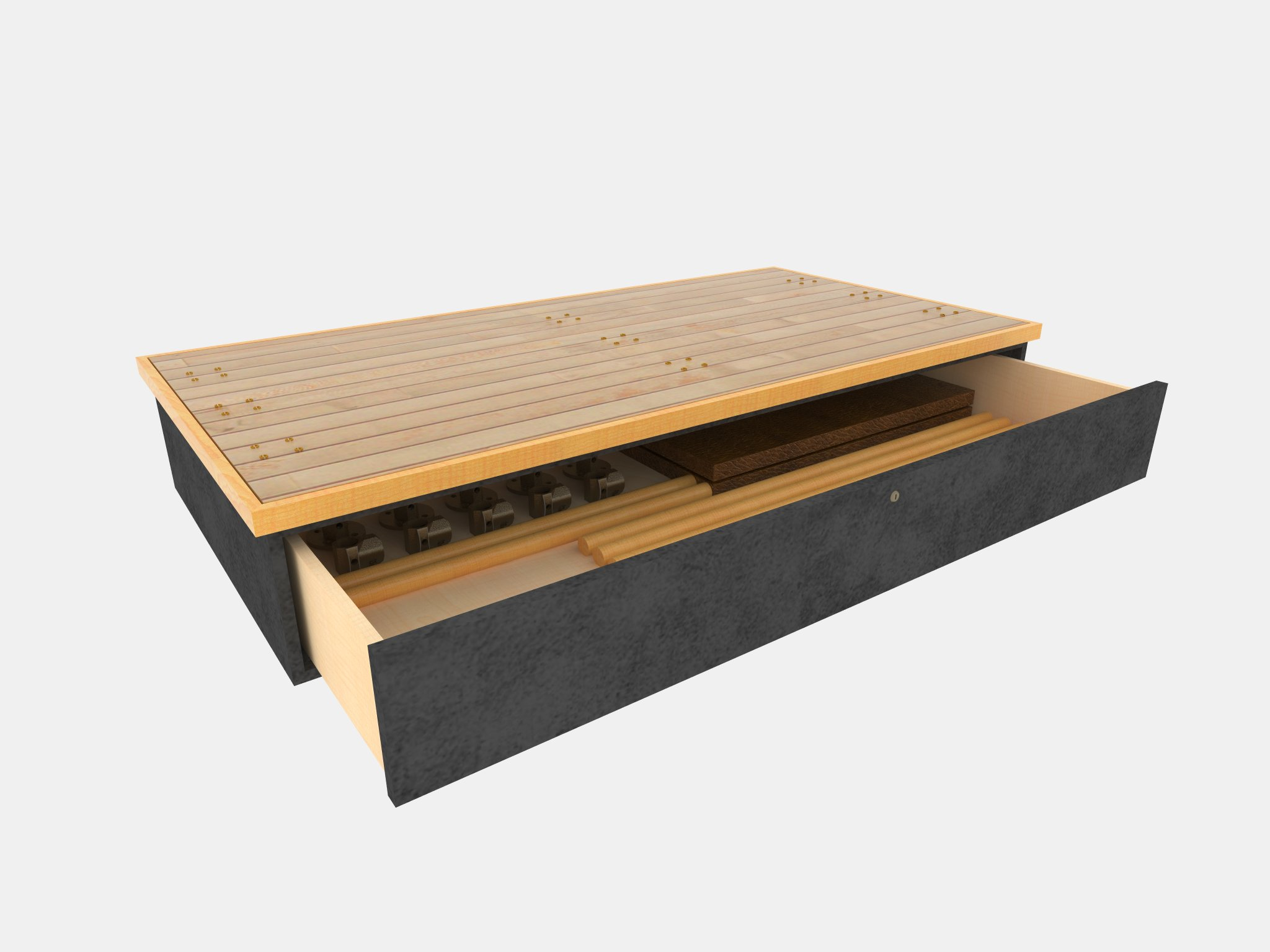 Pedestal Disassembled with Open Drawer.jpg