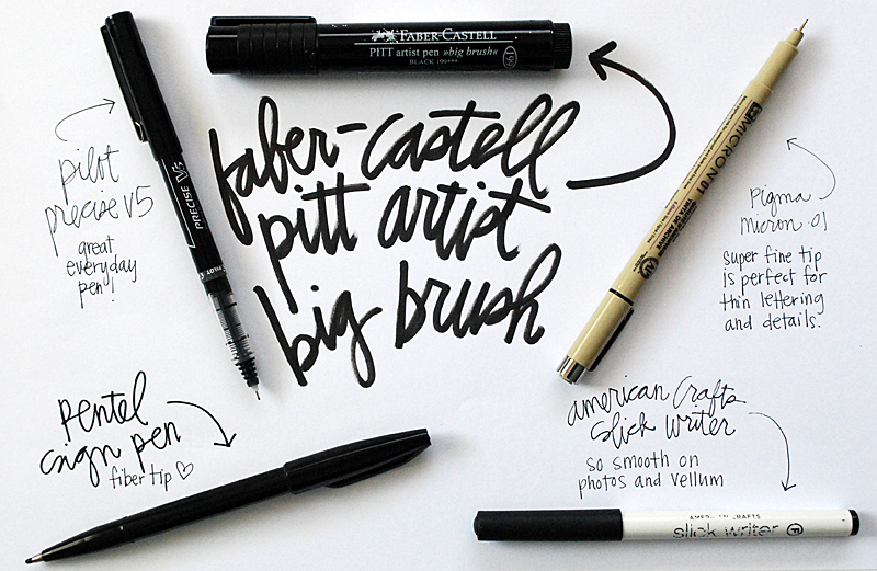 5 Favorite Black Pens | Nicole Reaves