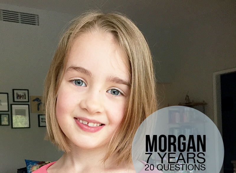 20 Questions : Morgan at Age 7 | Nicole Reaves