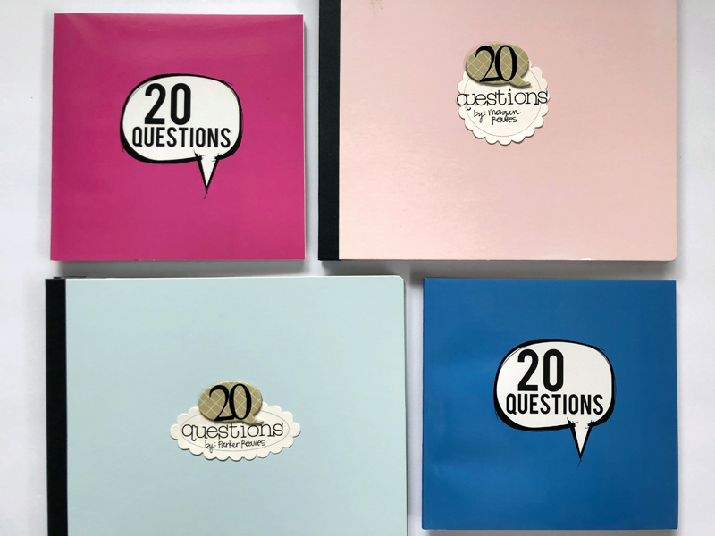 """For reference, the softcover Blurb book measures 6.75"""" square. The scrapbook album measures 8.5"""" H x 9.5"""" wide."""